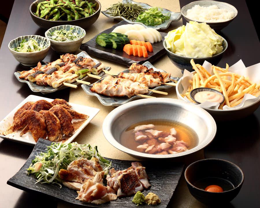 とりいちず 中野北口店の鶏料理を満喫できる〈食べ放題×飲み放題コース〉